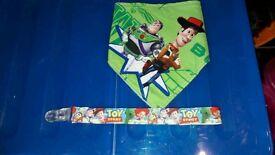 Handmade Toy Story bandana bib & dummy clip