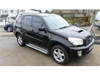 2003 TOYOTA RAV4 2.0 D-4D VX 4X4 BLACK-DAMAGED REPAIRABLE SALVAGE
