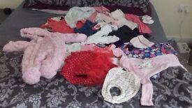 Baby girls clothing bundle 3-6 months