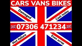 📞 WANTED CAR VAN BIKE From R CASH ANY CONDITION SELL MY SCRAP COLLECT FAST