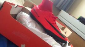 Nike red sock mercurial victory's // size 7