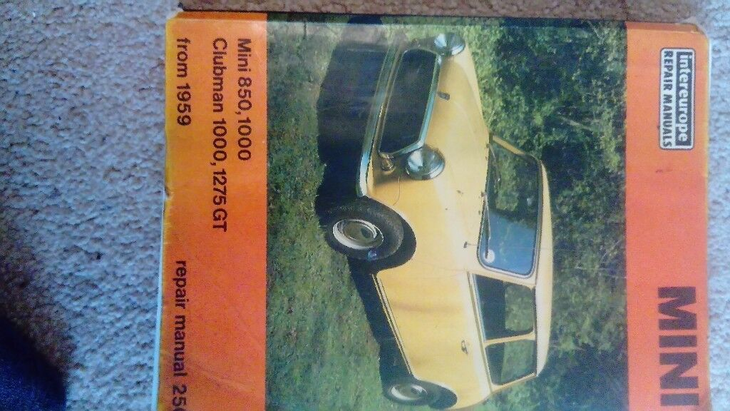 Car Manual Mini 850 & 1000 and Clubman 1000 and 1275 GT