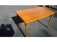 Rectangular pine dining table
