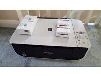 Printer & scanner + 4 ink cartridges