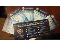 5 England New Zealand Cricket Champions Trophy tickets in Cardiff on the 6th of June