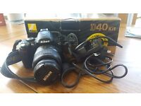 Nikon D40 SLR DSLR with 18-55mm kit lens