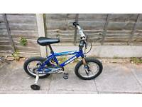 "kids 16"" bike cycle bicycle with stabalisers"