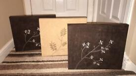 Light and dark brown canvas