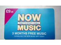 Now That's What I Call Music - 3 months Free Music Pass RRP9.98