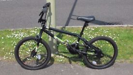 Halfords X-Rated 8 Ball BMX Bike, Black, as new condition.