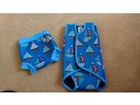Baby warma wetsuit and aqua nappy