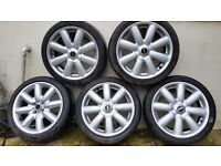 MINI COOPER ALLOY WHEELS SET OF 5