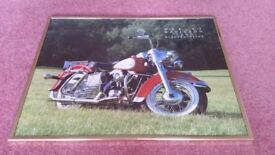Harley Davidson framed photograph