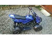 Blue mini moto petrol quad