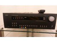ARCAM AVR300 A/V SURROUND SOUND RECEIVER 7.1 CHANNELS BLACK WITH REMOTE
