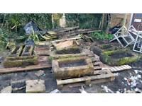 Stone farm troughs