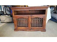 Dark Wood Jali TV Cabinet/Unit