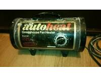 Hi for sale Auto heat greenhouse heater! In used condition! fully working! can deliver or post!
