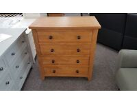 Julian Bowen Marlborough Oak 4 Drawer Chest