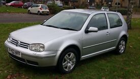 GOLF VOLKSWAGON GOLF 1.9 GT TDI 6 SPEED(12 MONTHS MOT(ONE OWNER FROM NEW