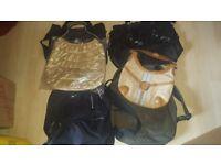 13 Assorted ladies handbags, some branded (Kipling, Nike)