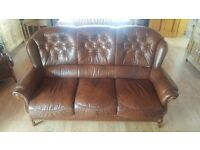Brown leather sofa very good condition