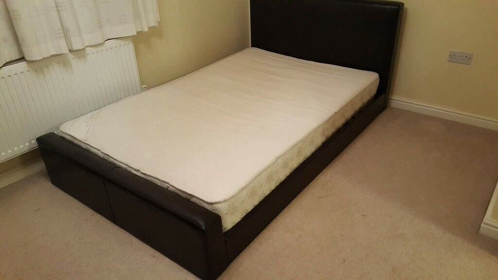 Faux Leather Bed & Mattress