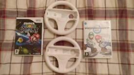 Wii Mariokart and Super Mario Galaxy