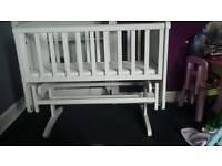 White gliding crib