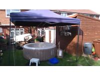 HOT TUB HIRE, NEW PURE SPA 6-8 PERSON HOT TUB AND HEAVY DUTY GAZEBO/LIGHTING