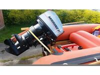 Inflatable Rib with 25 hp Engine and Trailer