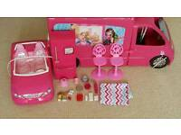 Barbie caravan and car