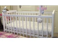 White Compact Cot **IMMACULATE**