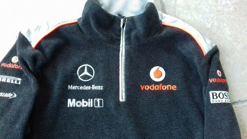 Ladies Hugo Boss Formula 1 Mercedes Benz / Vodafone Fleece Jacket Genuine & Authentic Perfect Cond.