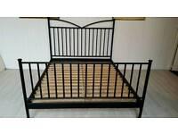 Ikea King Size Black Metal Bed Frame 001