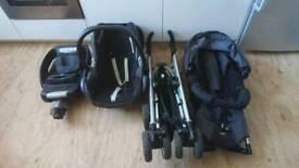 Maxi Cosi Pushchair Car Seat Loola Travel Cot System CabrioFix EasyFix IsoFix