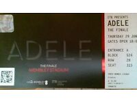 3 tickets for Adele at Wembley Stadium 29th June 2017