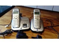 BT 4500 telephones (two in number) base station plus addtl