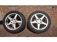 Autec alloy wheels with Michelin winter tyres £50 for pair - 205/55 R 16