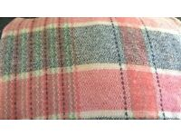 WELSH WOOL BLANKET LARGE DOUBLE SIZE
