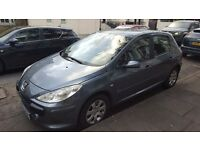 PEUGEOT 307 QUICK SALE WANTED!!! 52,000m East London - MOT / Road Tax / Make me an offer!