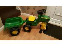 Kids tractor and trailor