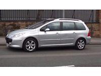 2006 Peugeot 307SW SE 1.6 HDI 7 Seater, Full Service History, Long MOT, Low Miles!