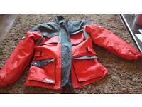 Motorcycle jacket Kevlar, medium. Never worn. Internal back & shoulder protection zip out lining.