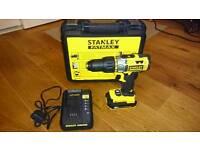 Stanley Fatmax 18V Hammer Drill + 1,3Ah 18V Li-Ion battery + Charger + Plastic Case + RECEIPT = £50