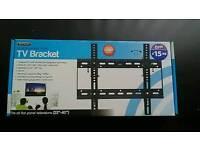 BRAND NEW BOXED HEAVY DUTY LCD LED TV WALL BRACKETS 22 - 40 inch tvs