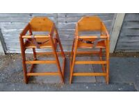 Vintage style high chairs