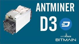 3x Bitmain Antminer D3 X11 - 19.3GHs