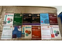 GCSE Books, complete Maths, Science, English