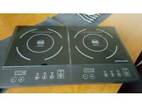 Twin induction hob